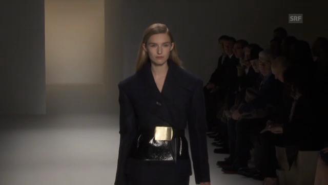 Schweizer Elite-Model Manuela Frey auf dem New Yorker Catwalk