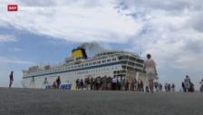 Video «EU-Kommission besorgt über Lage der Flüchtlinge» abspielen
