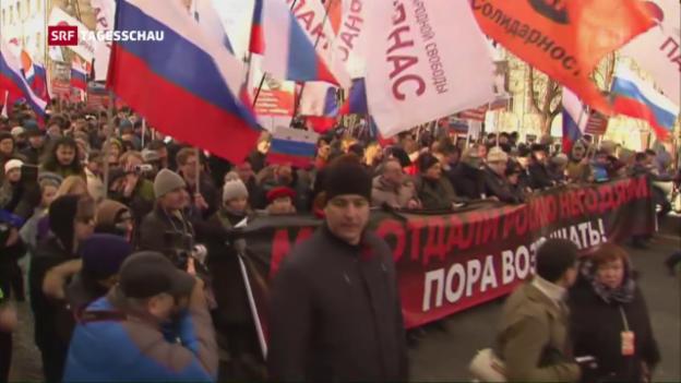 Video «Todestag von Boris Nemzow» abspielen