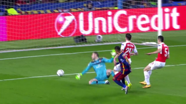 Video «Suarez, Neymar und Messi besiegeln Arsenals Out» abspielen