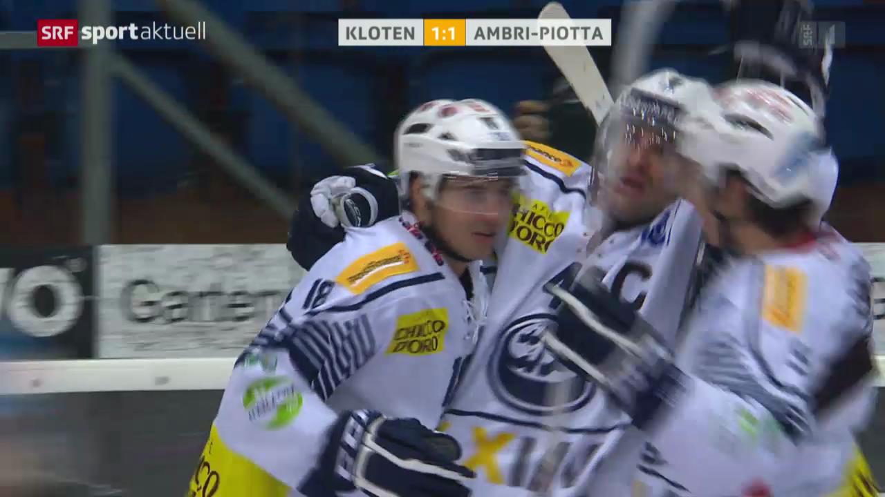 Eishockey: Kloten - Ambri