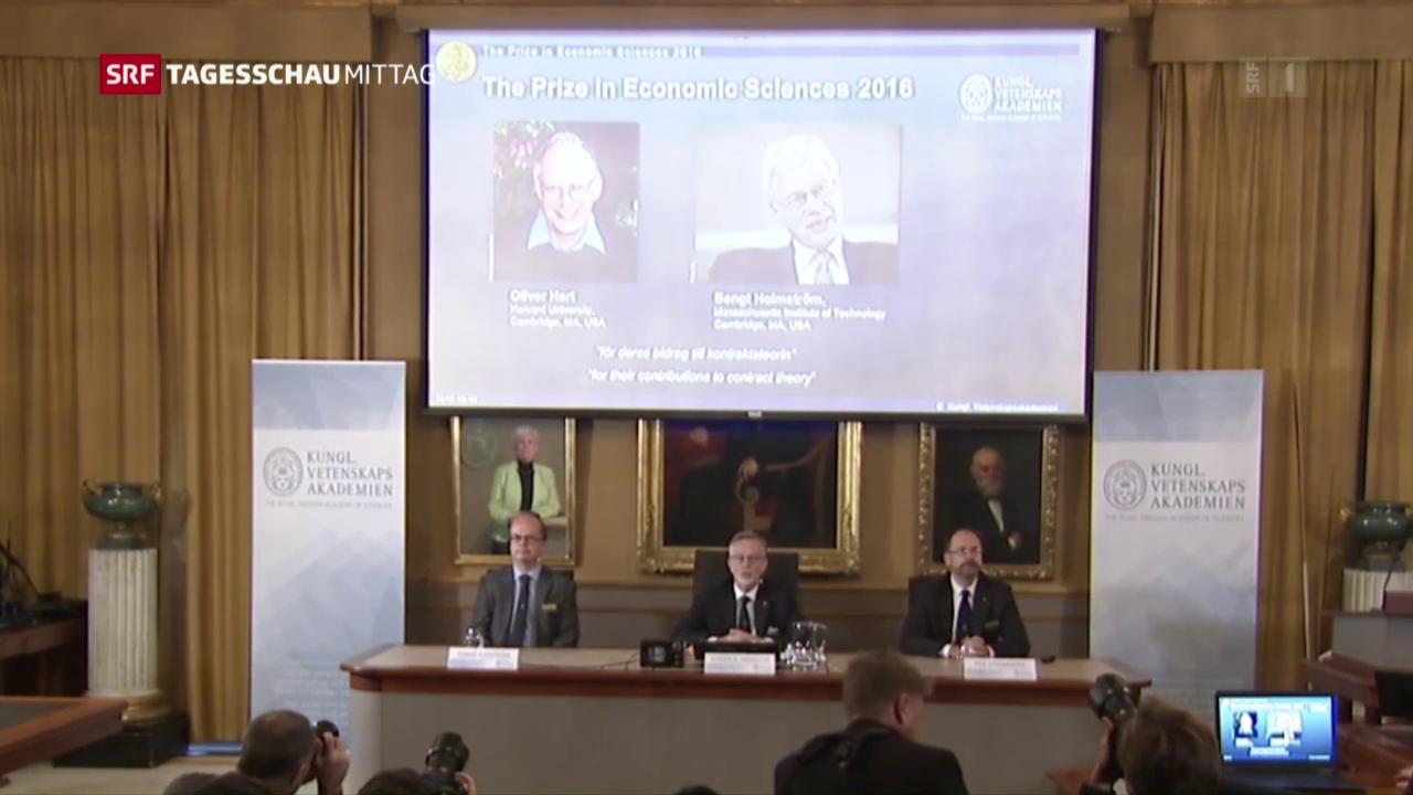 Wirtschaftsnobelpreis für Hart und Holmström