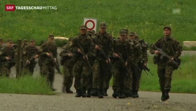 Video «Kräftiger Aderlass bei der Armee» abspielen