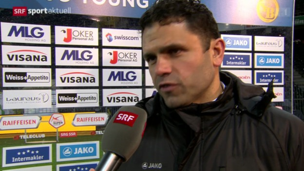 Video «Fussball: Interview mit YB-Trainer Uli Forte» abspielen