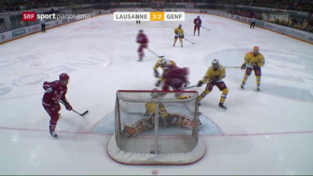 Video «Lausanne gewinnt gegen Genf zum 2. Mal innert 24 Stunden» abspielen