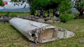 Video «Wrackteil gehört zu einer Boeing 777» abspielen