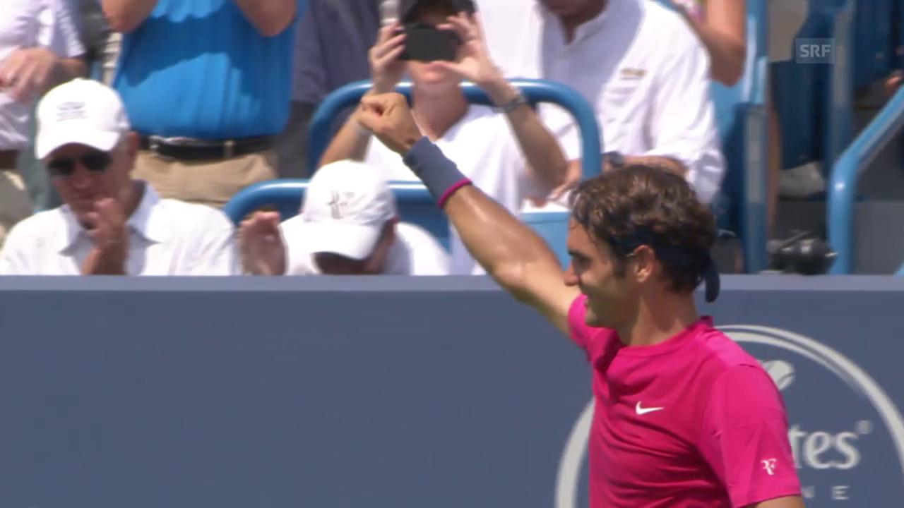 Tennis: Cincinnati, Federer - Djokovic