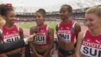 Video «Sprinterinnen-Quartett schafft Finaleinzug» abspielen