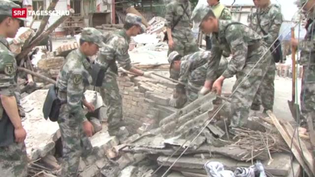 Schwierige Rettungsarbeit in China
