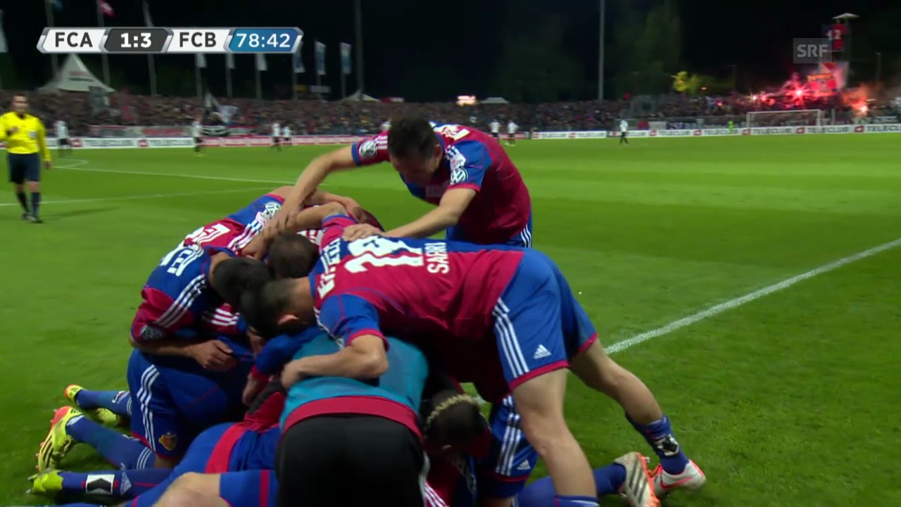 Fussball: Super League, 35. Runde, Aarau - Basel, Highlights