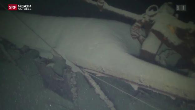 Video «Flugzeugwrack nach über 70 Jahren entdeckt» abspielen