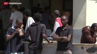 Video «Flüchtlinge aus Italien werden oft nicht registriert» abspielen