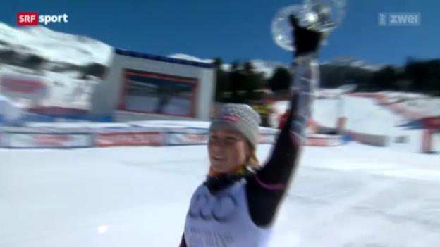 Video «Ski: Slalom Frauen auf der Lenzerheide» abspielen