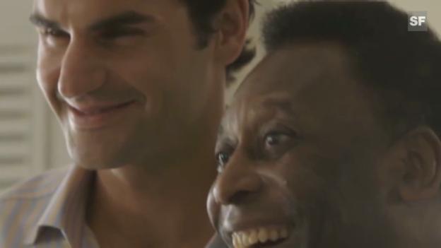 Video «Roger Federer trifft Pelé» abspielen