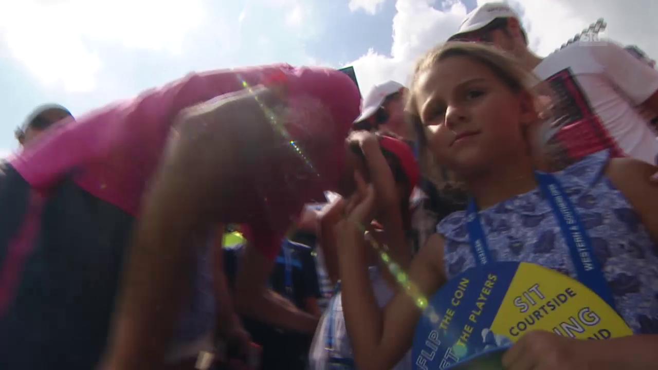 Die Federer-Girls feiern ihren Papa