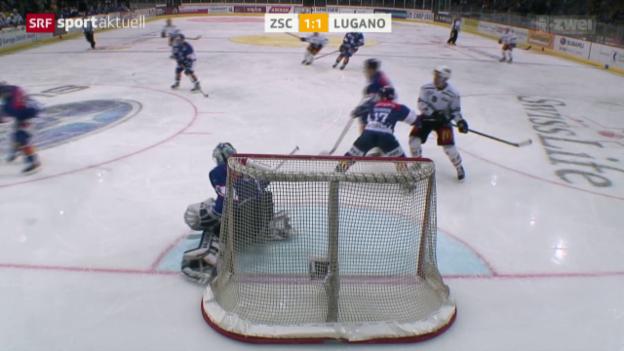 Video «Eishockey: NLA, ZSC - Lugano» abspielen