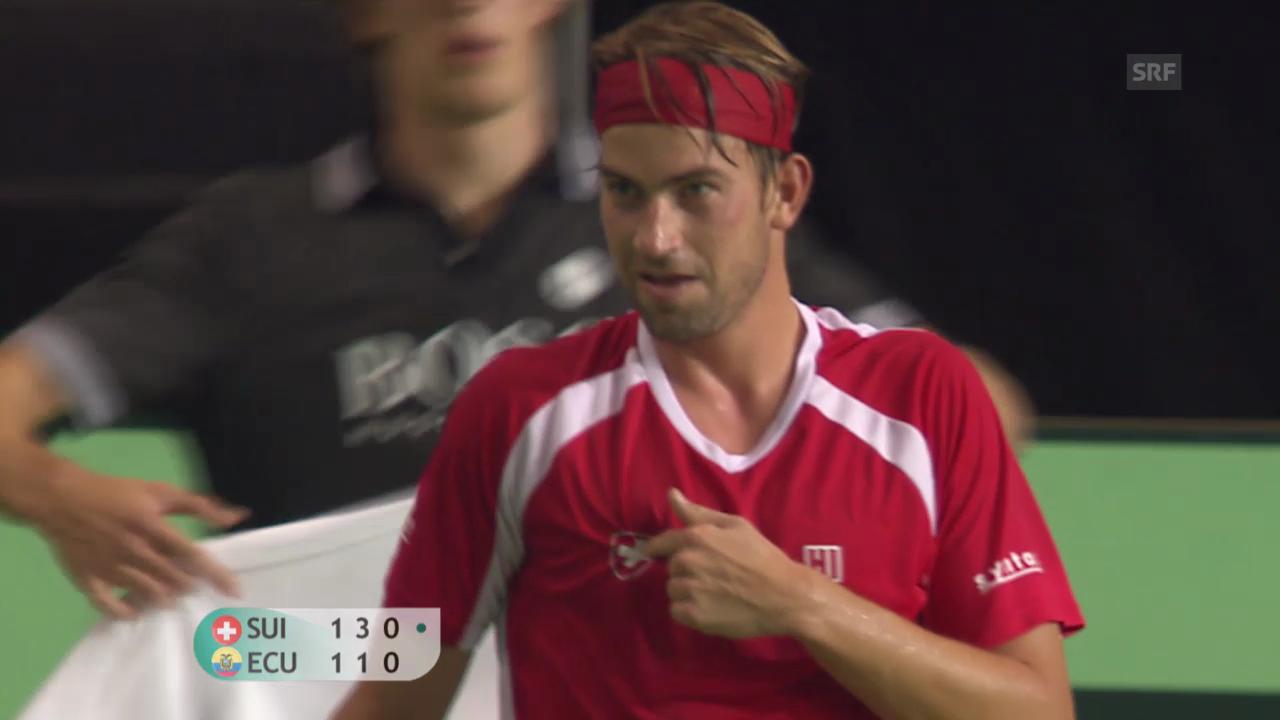 Tennis: Schlusstag bei Schweiz - Ecuador («sportpanorama»)
