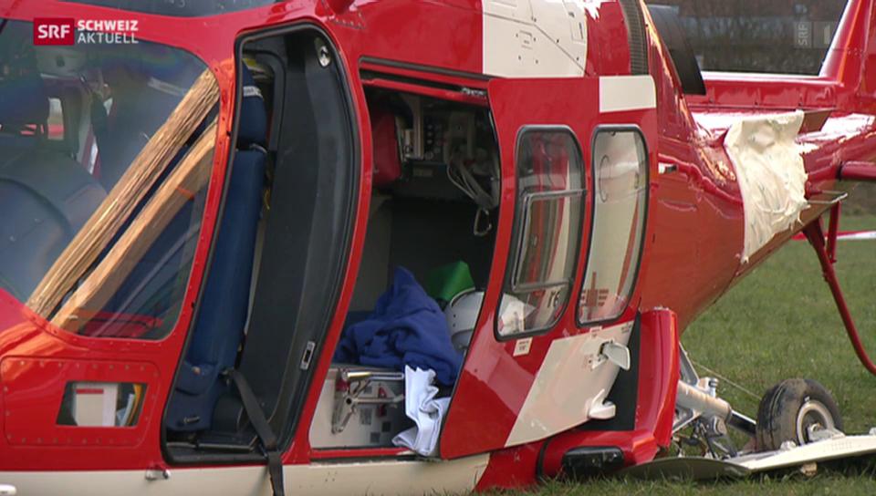 3 Verletzte nach Absturz eines Rega-Helis