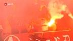 Video «Auschreitungen beim Spiel Basel-Zürich erreichen eine neue Dimension» abspielen