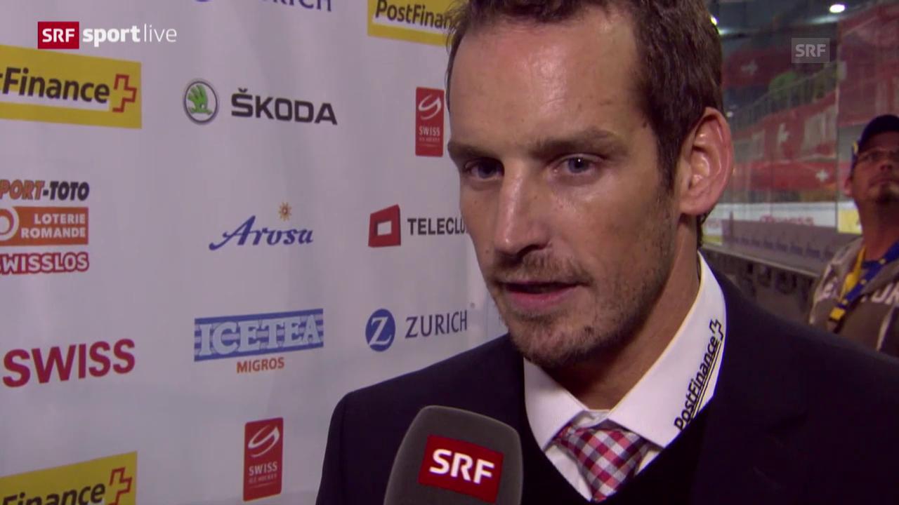 Eishockey: Arosa Challenge, Schweiz Norwegen, Interview mit Patrick Fischer