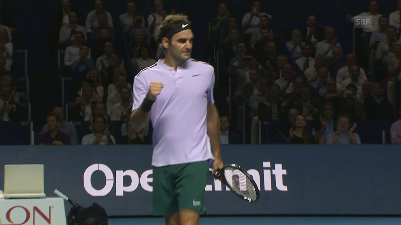 Live-Highlights bei Federer - Paire