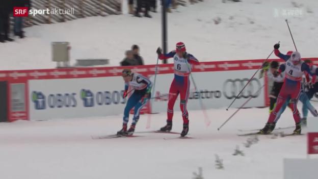 Video «Langlauf: Sprint in freier Technik in Lillehammer» abspielen