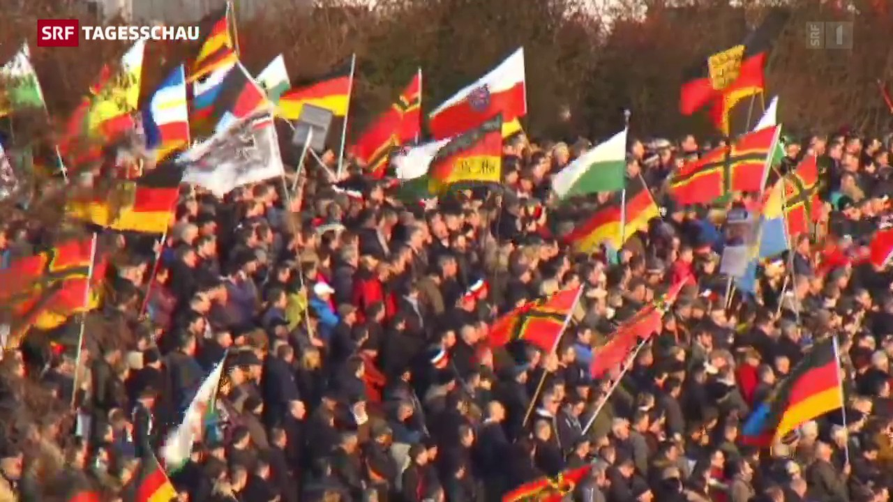 Pegida-Demonstrationen europaweit