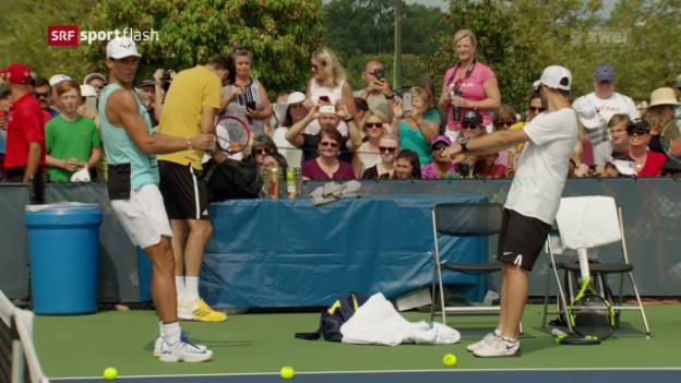 Video «Nadal vor dem Turnier in Cincinnati» abspielen