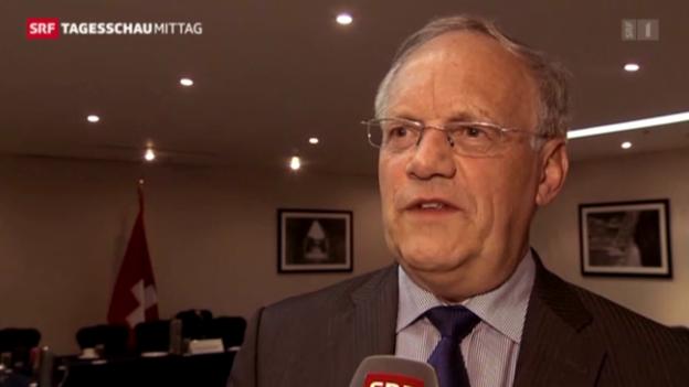 Video «Schneider-Ammann zu Vasella: Eine unschöne Sache.» abspielen