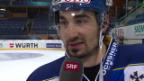 Video «Eishockey: Spengler Cup, Interview mit Andres Ambühl» abspielen