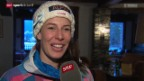 Video «Ski: Dominique Gisin in Crans Montana» abspielen