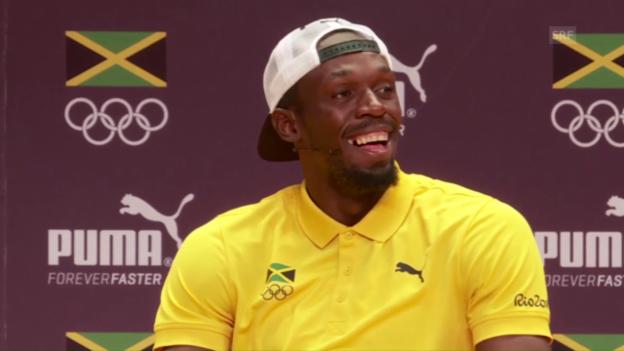 Video «Norwegischer Journalist rappt für Bolt» abspielen