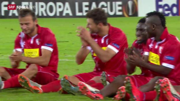 Video «Fussball: Europa League, Zusammenfassung Sion - Rubin» abspielen
