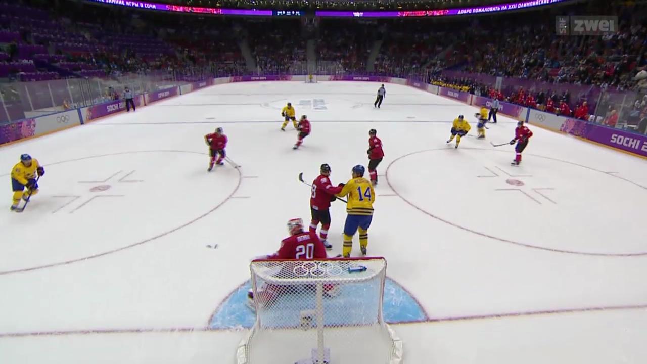 Eishockey: Schweiz unterliegt Schweden knapp