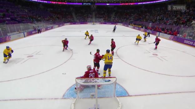 Video «Eishockey: Schweiz unterliegt Schweden knapp» abspielen