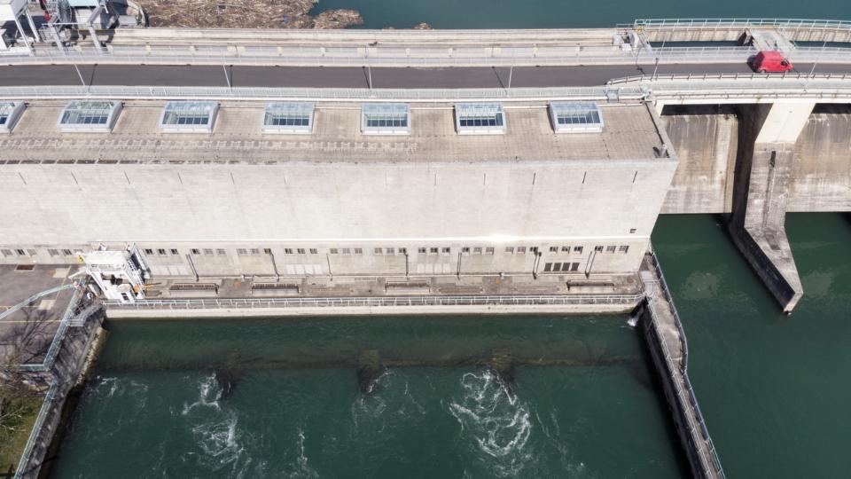 Produktion von Strom in Wasserkraftwerken stark reduziert