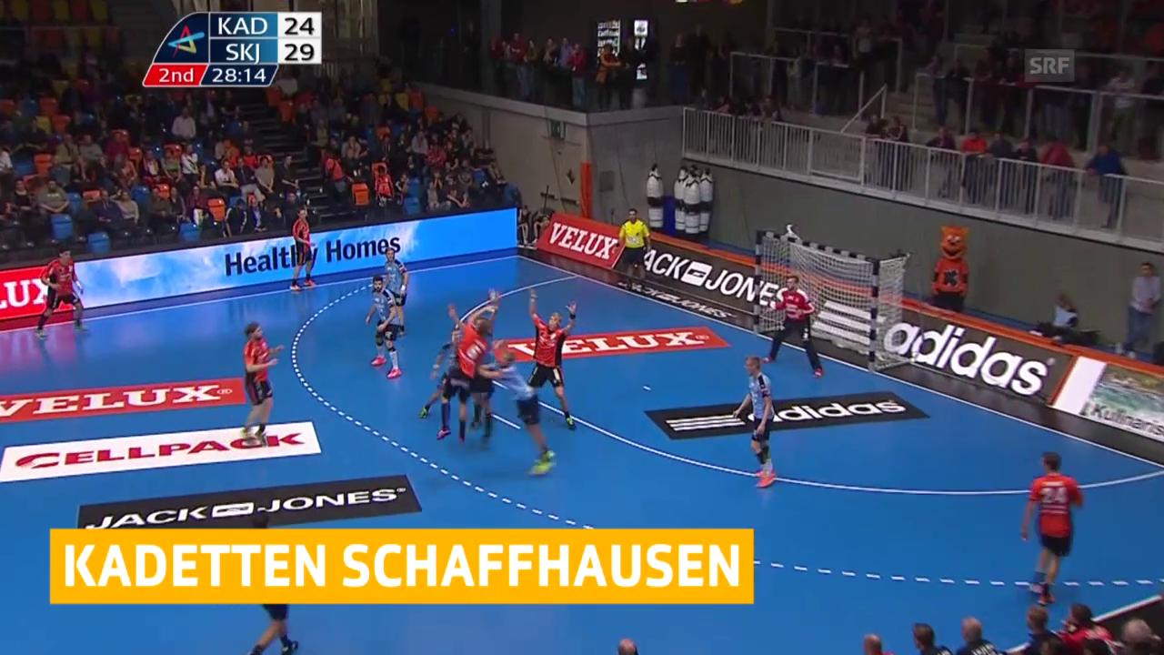 Handball: Kadetten - Skjern («sportaktuell», 15.10.2015)