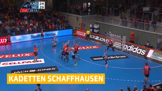 Video «Handball: Kadetten - Skjern («sportaktuell», 15.10.2015)» abspielen