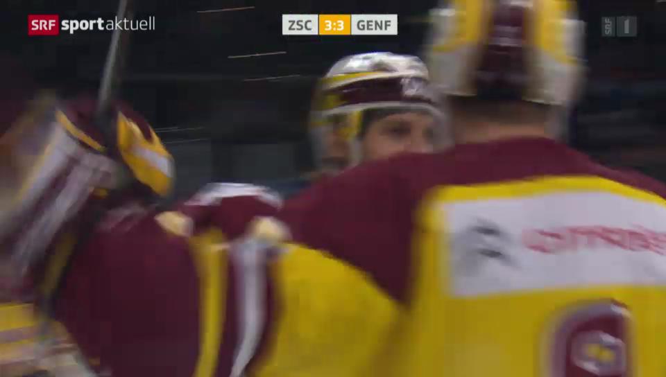 Eishockey: NLA, ZSC Lions - Servette, Tor Simek