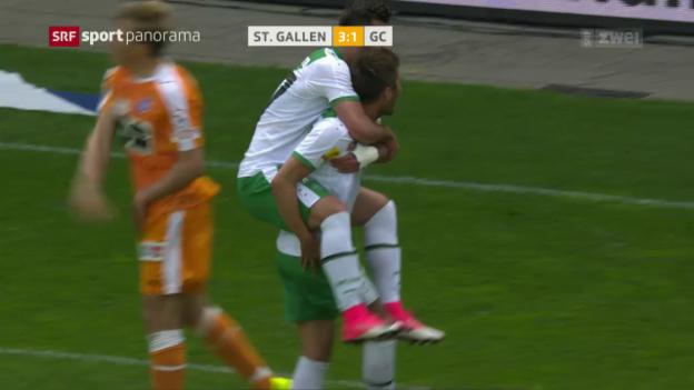 Video «St. Gallen mit starkem Schlussspurt gegen GC» abspielen
