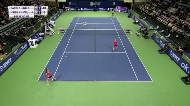 Video «Hingis/Bacsinszky verlieren Doppel-Final in Biel» abspielen