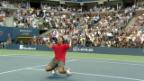 Video «2008: Federer siegt zum 5. Mal in Serie» abspielen