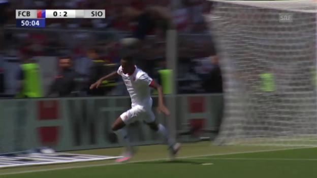 Video «Fussball: Cup-Final Basel-Sion, Highlights (07.06.2015)» abspielen