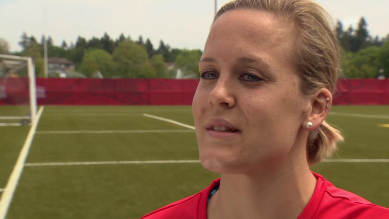 Fussball: Frauen-WM, Interview Vanessa Bürki