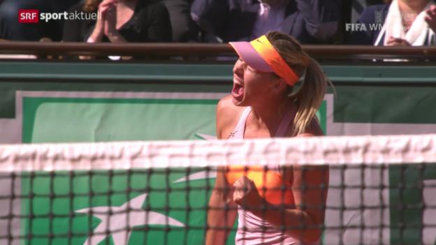 Video «Tennis: French Open, Scharapowa-Bouchard» abspielen