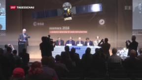 Video «Hoffen auf ein Signal der Mars-Sonde» abspielen