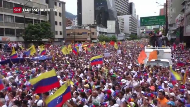 Video «Hunderttausende demonstrieren gegen Madùro» abspielen