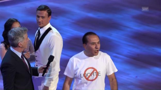 Video «Ryan Lochtes Tanzshow-Auftritt wird gestört (SNTV)» abspielen