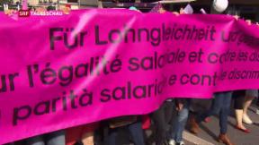 Video «Demo für Lohngleichheit» abspielen