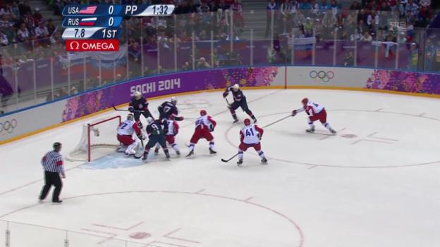 Video «Eishockey: USA - Russland (sotschi aktuell, 15.02.2014)» abspielen